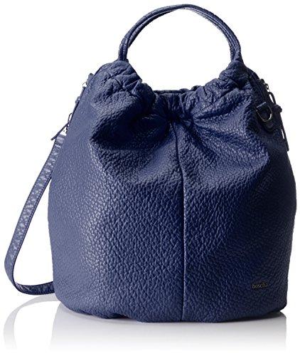 Boscha Damen Bo-1084-aa Schultertasche, Blau (Blueberry), 18x43x42 cm
