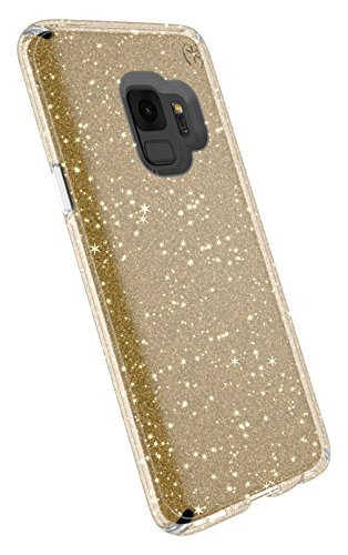 Speck 109511-5636 Presidio Clear+Glitter Funda para Samsung Galaxy S9 - Transparente/Oro