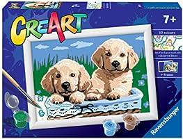 Ravensburger 28931 8 CreArt Serie E - Cani Retriever, Dipingere con i Numeri, Gioco Creativo per Bambine e Bambini, Età...