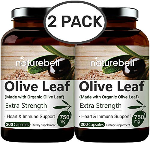 Made with Organic Olive Leaf Extract 750mg, 200 Capsules,...