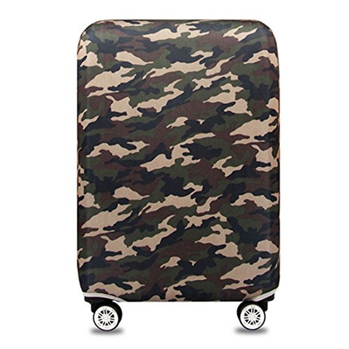 YianBestja Elastic Dustproof Travel Luggage Suitcase Protective Cover Trolley Luggage Baggage Protector Case for 18'-32' Inch Luggage (Camouflage 2, M (22-24 inch Luggage))
