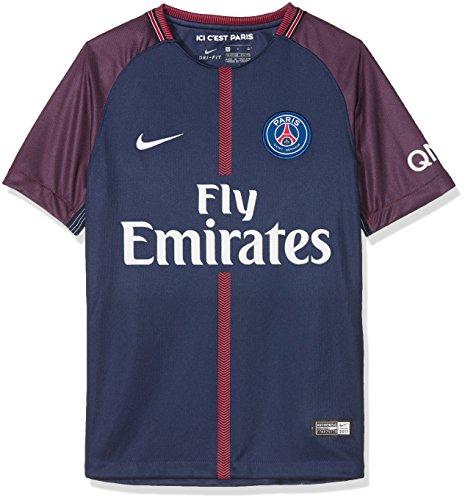 Nike 847409-430 Maillot de Football Mixte Enfant, Midnight Navy/Blanc, FR (Taille Fabricant : XL)