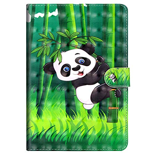 MoreChioce kompatibel mit iPad 9.7 Zoll 2018/2017 Hülle, 3D Panda Muster Leder Flip Stand Tablette Case Brieftasche mit Auto Sleep/Wake Funktion kompatibel mit iPad 9.7 2018/2017,EINWEG