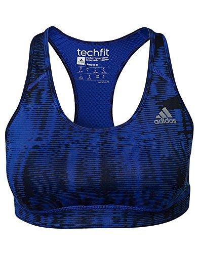 adidas Damen Sport BH Techfit, Blau, XS
