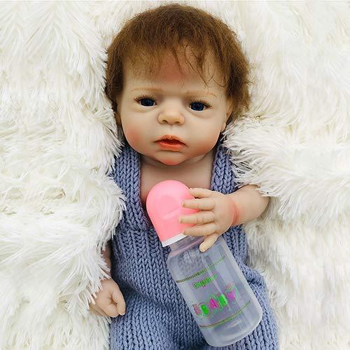 Wiedergeborene Babys Puppe Lebloses Baby 22 Zoll Weiche Vinyl Silicium Waschbare Reborn Puppen Neugeborene Echte Babysuppe, Wird Nicht Krank Sein, Sei Mit Der Neuen Mutter