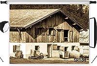写真の新しい農家の背景7x5ft素朴な木製の納屋のドアの写真の背景ヴィンテージ田舎の背景カスタマイズされた子供大人の肖像写真の小道具SR164