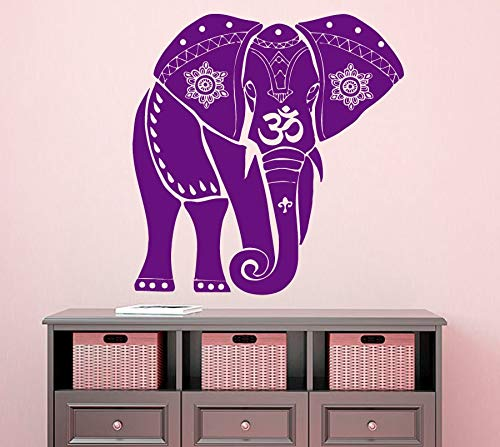 Ajcwhml Walking Tribal Pattern Elefanten Wandaufkleber Religiöse Serie Familie Wohnzimmer Aufkleber Elefant - 91X91CM