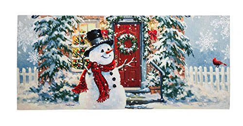 Evergreen Easy to Clean Snow Place Like Home Decorative Mat Insert, 10 x 22 inches by Evergreen Enterprises