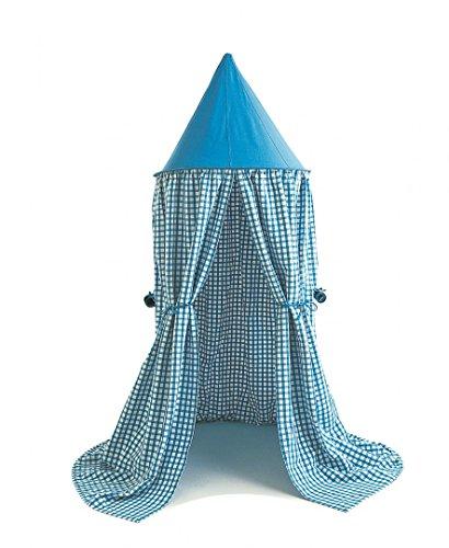 Win Green- Sky Blue Gingham Hanging Tent Suspendre, Bleu
