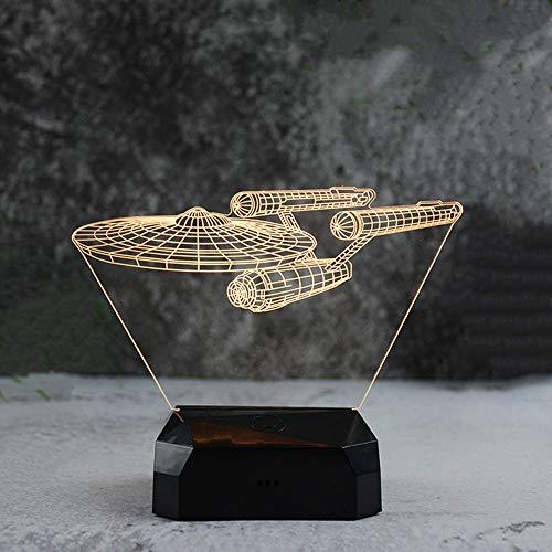 Wiederaufladbare touch kreatives licht usb neue seltsame intelligente kreative usb runde nachtlicht raumschiff usb lade touch buntes licht