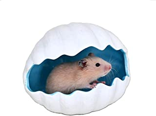PINVNBY Hamster Sand Bathroom Ceramic Small Animals House Hideout Hut Rat Hideaway for Hamster Gerbil Rat Mice and Small Animal