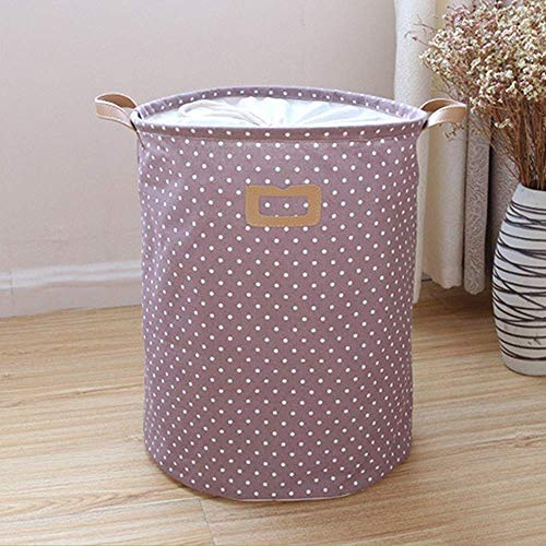 MissZZ Collapsible Storage Bin Drawstring Closure Design Baby Toy Storage Laundry Basket Home Storage Containers