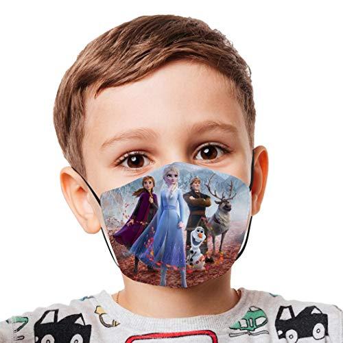 Halstuch für Kinder, wiederverwendbar, winddicht, Anti-Staub, Mundschutz, Bandanas für Mädchen und Jungen Gr. Einheitsgröße, Weiß-2