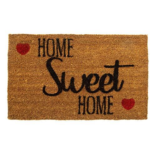 Home Sweet Home - Felpudo para puerta (75 x 45 cm, 20 mm de grosor)