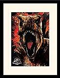 Jurassic Park Jurassic World Fallen Kingdom (T-Rex Sketch), montado y Enmarcado, 30 x 40 cm
