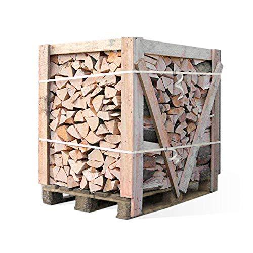 Holtaz Brennholz ofenfertiges Kaminholz Feuerholz Mischholz Grillholz für Kamin Ofen Feuerschalen Lagerfeuer 900kg