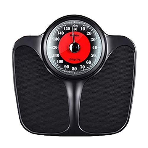 JSJJAUJ Corporal Báscula Metal mecánico Escala de Peso Balance de Cuerpo Baño de baños de pesaje Piso Peso Humano Escala de Primavera Regalo (Color : Black)