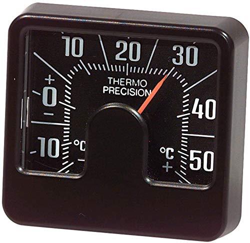Richter 4696 Universal Auto KFZ Armaturenbrett, quadratisch, klassisches, analoges Thermometer Compact Slim Wetter Gauge