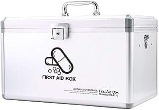 WSJTT Medicine Organizer Lockable Medication Box Organizer Small Medicine Lock Box with Compartments Childproof Prescripti...