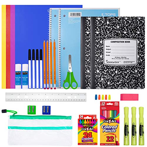 School Supplies for Kids Back to School Supply Box Supplies for Girls Or Boys Supplies Bundle Kit 34 Supplies
