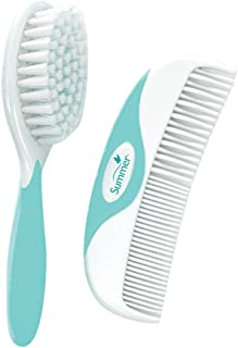 Summer Brush and Comb, Teal/White