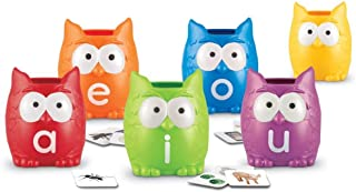 Learning Resources LER5460 Vowel Owls Sorting Set 4 x 3 in