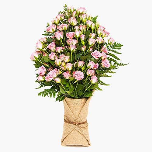 Ramo de rosas ramificadas - flores naturales a domicilio - Flores frescas - Envío a domicilio 24h GRATIS - Tarjeta dedicatoria incluida - Caja especial para ramos de flores naturales.