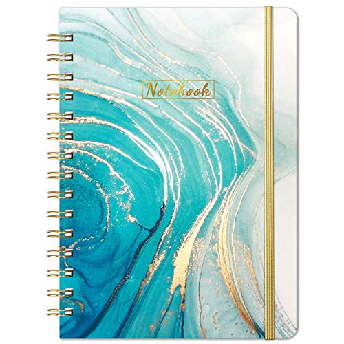 """Ruled Notebook/Journal - Lined Journal with Premium Thick Paper, 8.46"""" X 6.37"""", College Ruled Spiral Journal/Notebook, Banded with Exquisite Inner Pocket, Hardcover"""
