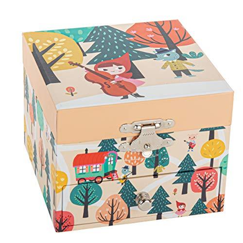 TROUSSELIER - Petit Chaperon Rouge - Boîte à Trésors & Bijoux Musicale - Idéal Cadeau Enfant - Lullaby de Schubert - Colori Bleu Foncé