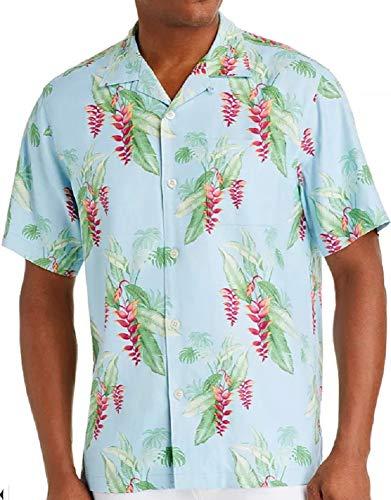 Tommy Bahama Coastal Cascade Silk Camp Shirt (Color: Sea Ice, Size XL)