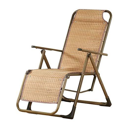 WYJW Bamboe Pad Zwaartekracht Lounge Stoel met Comfort Hoofdsteun, Zomer Outdoor Balkon Beach Patio Zwembad Opvouwbare Ligstoel (Maat: Set van 4)