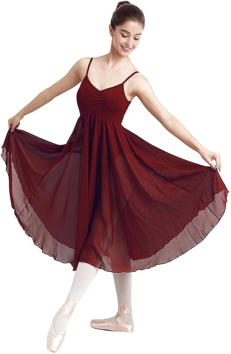 IDOPIP Women Lyrical Dance Dress Fashion Long Leo Ballet V-Neck Camisole Bombing free shipping