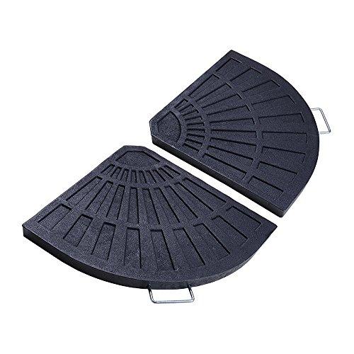 Yescom 54lbs 19' Fan Shaped Resin Beton Base Stand Black for Outdoor Patio Offset Umbrella(Pack of 2)