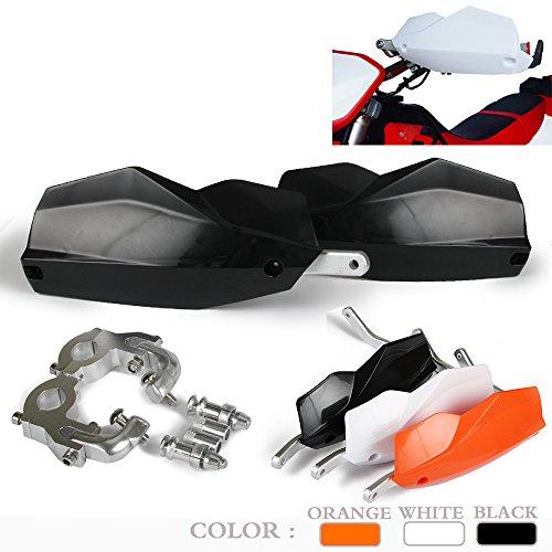 JFGRACING Protège-mains en aluminium pour motocross Yamaha Kawasaki Suzuki K.T.M Dirt Bike MX Supermoto Racing ATV Quad Kayo Noir 2,2 cm