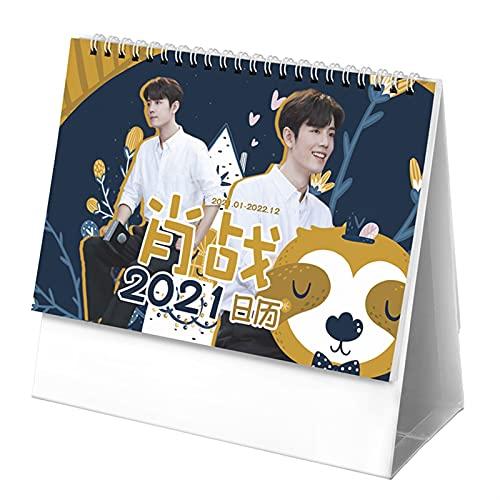 2021 2022 Xiao Zhan, Wang Yibo Calendario de Personajes Chen Qing Ling Doble Silded Sky Calendars Fans Chenhuanbakeyji (Color : Xiao Zhan)