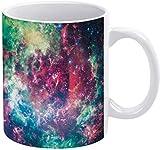 Taza de café con diseño de nebulosa misteriosa y demonio