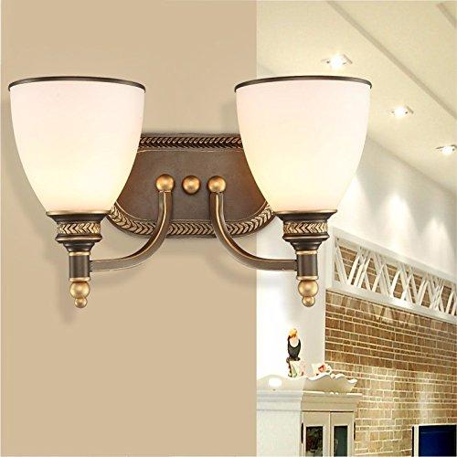 JJZHG wandlamp wandlamp waterdichte wandverlichting woonkamer slaapkamer wandlamp bedlampje dubbelkop wandlamp spiegel front bevat: wandlamp, stoere wandlampen