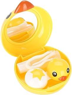 Contact Lens Case, Cute Mini Cartoon Duck Contact Lens Holder Eye Care Soak Storage Lenses Container Case Mirror Box