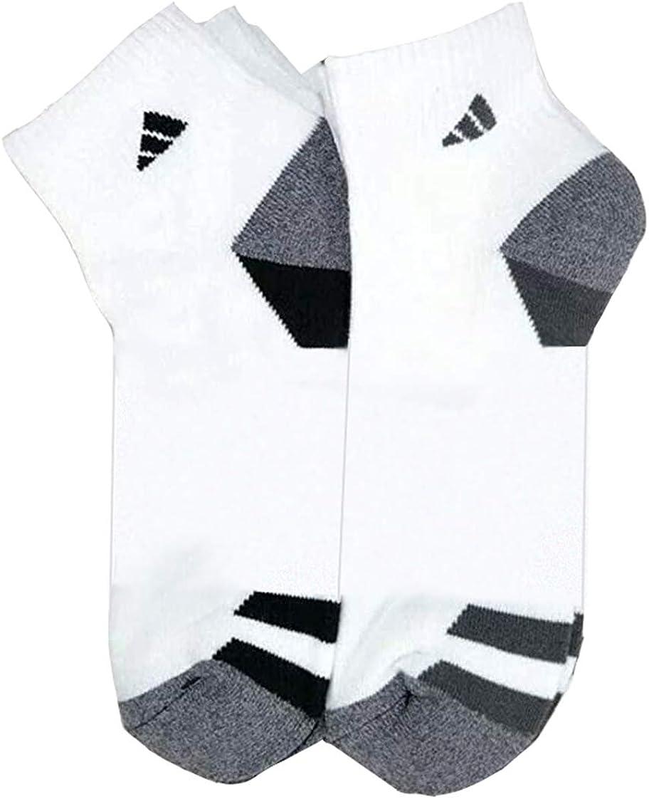 Adidas Men's No Show Socks No Show White 6 Pairs Shoe Size 6-12