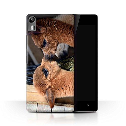 Stuff4 Phone Case for Lenovo Vibe Shot/Z90 South America Alpaca Cute Pair/Kiss Transparent Clear Ultra Slim Thin Hard Back Cover