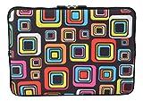 MySleeveDesign Laptoptasche Notebooktasche Sleeve für 10,2 Zoll / 11,6-12,1 Zoll / 13,3 Zoll / 14 Zoll / 15,6 Zoll / 17,3 Zoll - Neopren Schutzhülle mit VERSCH. Designs - Square Brown [11-12]