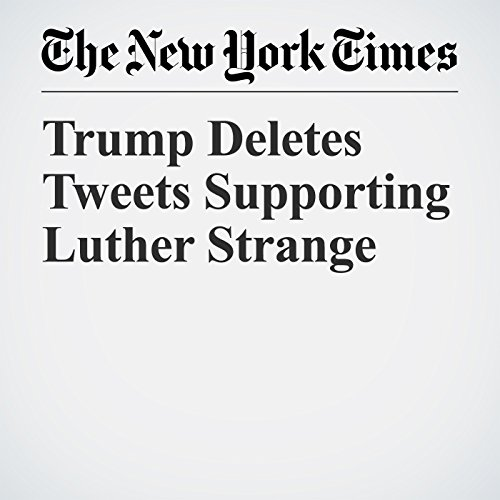 Trump Deletes Tweets Supporting Luther Strange copertina