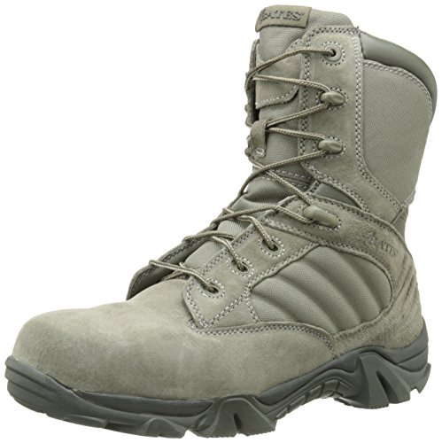 Bates Men's GX-8 Composite Toe Side Zip Work Boot, Sage, 15 M US