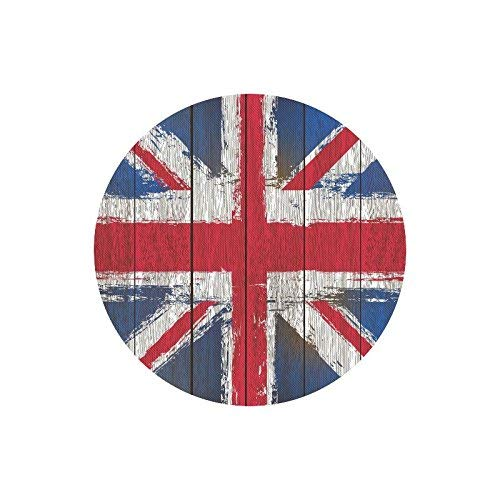 Wooden Grunged United Kingdom Flagge Britische Union Jack Flagge Runde rutschfeste Gummi Mousepad Mauspads Matten Fall Abdeckung für Office Home Frau Mann Mitarbeiter Chef Arbeit