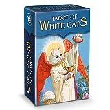 Tarot of White Cats Game, Mini Tarot Decks, Family Party Board Games, Future Decling Tarjetas De Juego Set para Principiantes