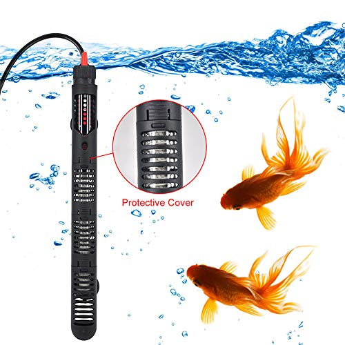 Mylivell Aquarium Heater Submersible Auto Thermostat Heater 300W Fish Tank Water Heater, with Protective Cover and Adjustable Temperature