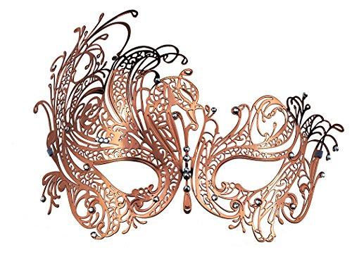Coddsmz Masquerade Mask Metal Venetian Party Mask with Rhinestones