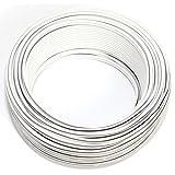 Cable para altavoz (2 x 0,50 mm², 25 m, CCA, cable de audio), color blanco