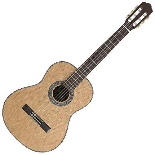 AngelLopez 058306 Guitare classique 4/4 en cèdre massif/palissandre Gris