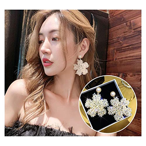 SSN Temperament Long Style Net Red Trendy Earrings Fairy Earrings Exaggerated Earrings Fashion Jewelry (Color : A)